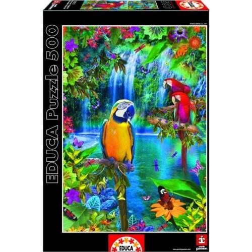 Trópusi Papagáj Paradicsom, Educa Puzzle 500 db