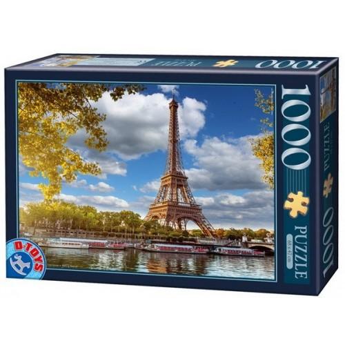 Eiffel Tower - Paris, D-Toys puzzle 1000 pc