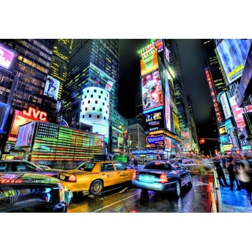 TIMES SQUARE - NEW YORK, Educa HDR Puzzle 1000 pc