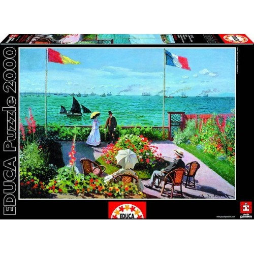 THE TERRACE AT SAINTE-ADRESSE, C. MONET, Educa Puzzle 2000 pc