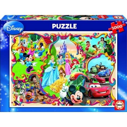 DISNEY'S WORLDS, Educa Puzzle 1000 pc