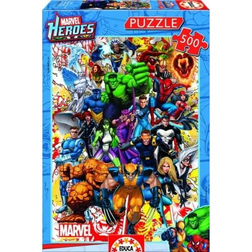 MARVEL HEROES, Educa Puzzle 500 db