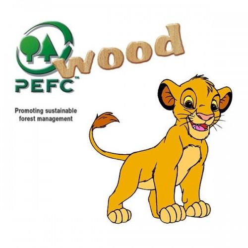 Lion King - Jungle Book, Educa wooden puzzle 2x50 pc