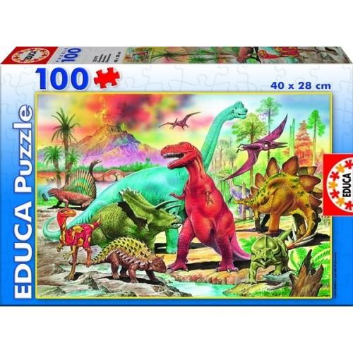 Dinoszauruszok, Educa puzzle 100 db