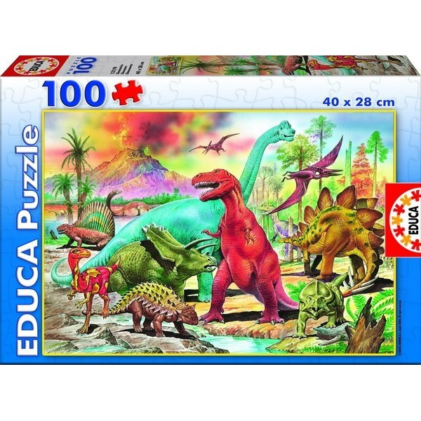 DINOSAURS, Educa puzzle 100 pc