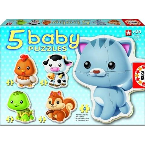 Educa Baba Puzzle, Háziállatok 3-4-5 darabos