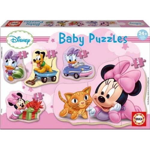 MINNIE, Educa Baby Puzzle 3-4-5 pc