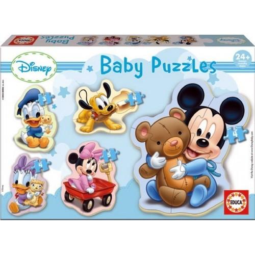 MICKEY, Educa Baby Puzzle 3-4-5 pc