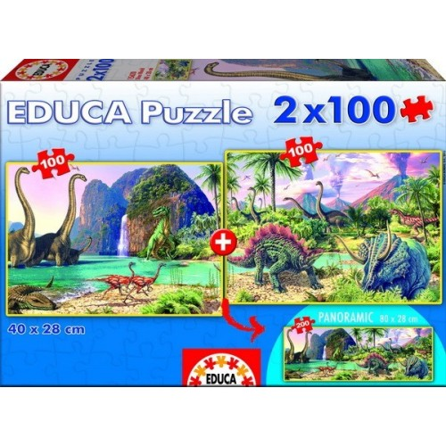 Dino World, Educa puzzle 2x100 db