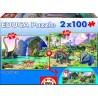 Dino World, Educa puzzle 2x100 pc