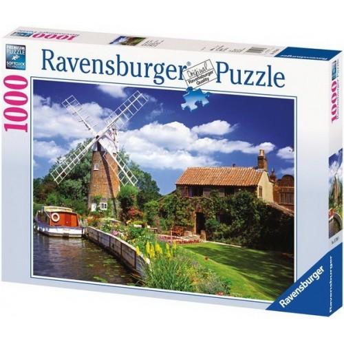 Táj szélmalommal, Ravensburger Puzzle 1000 db