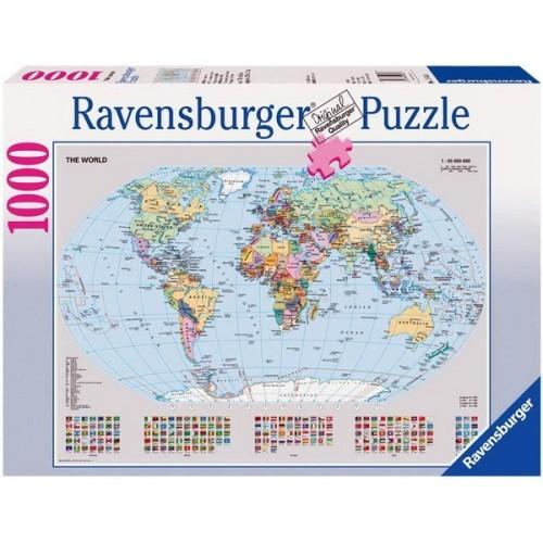 Politikai világtérkép, Ravensburger Puzzle 1000 db