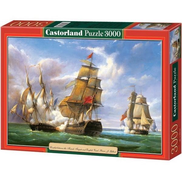 Csata a tengeren - Pierre J. Gilbert, Castorland puzzle 3000 db