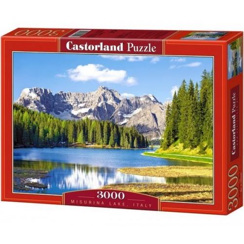 Misurina-tó - Olaszország,  Castorland puzzle 3000 db