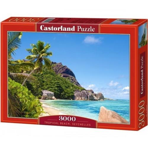 Trópusi tengerpart - Seychelle-szigetek,  Castorland puzzle 3000 db