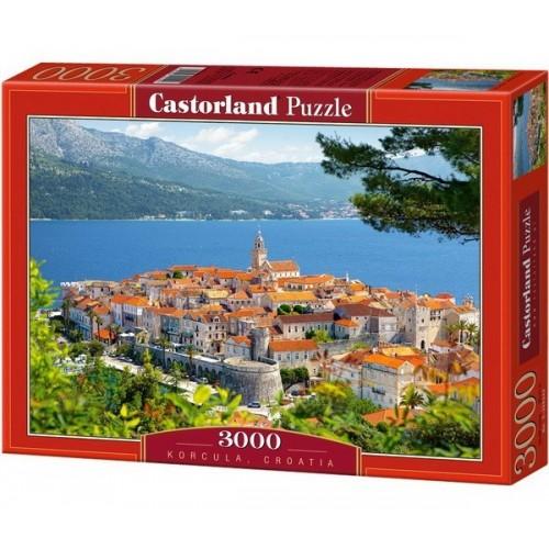 Korcula - Horvátország,  Castorland puzzle 3000 db