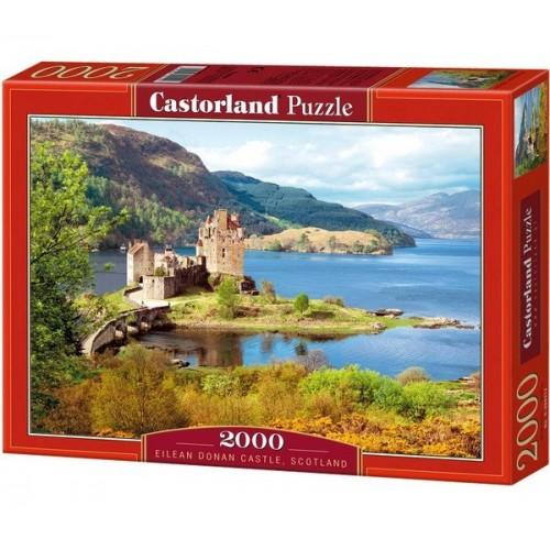 Eilean Donan Kastély - Skócia,  Castorland puzzle 2000 db