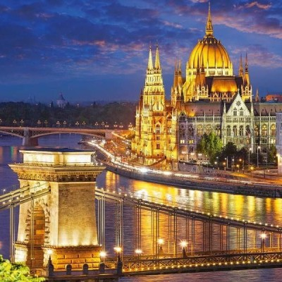 Budapest view at dusk, Castorland puzzle 2000 pc