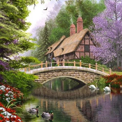 River Cottage, Castorland Puzzle 1000 pc