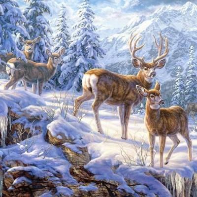 Szarvasok a téli tájban, Castorland Puzzle 1000 db