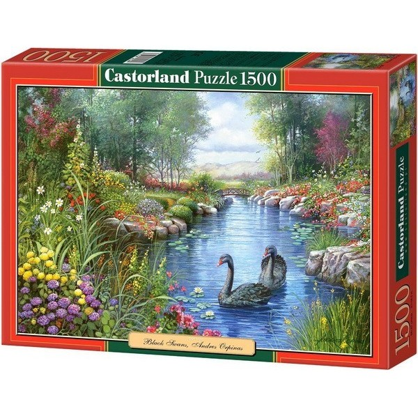 Black Swans - Andres Orpinas, Castorland puzzle 1500 pc