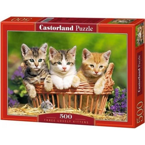 Egy kosár cica, Castorland Puzzle 500 db
