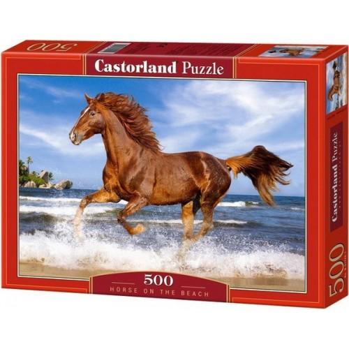 Vágta a tengerparton, Castorland Puzzle 500 db