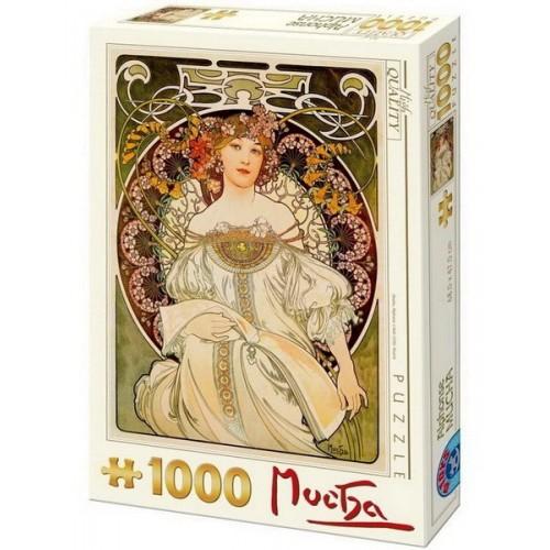 Reverie - Alfons Mucha, D-Toys puzzle 1000 pc
