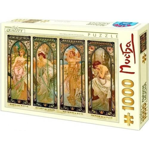 Napszakok - Alfons Mucha, 1000 darabos D-Toys puzzle