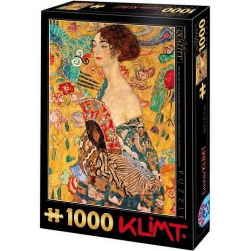 Hölgy legyezővel - Gustav Klimt, D-Toys puzzle 1000 db
