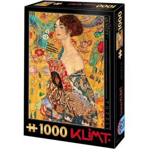 Lady with a Fan - Gustav Klimt, D-Toys puzzle 1000 pc