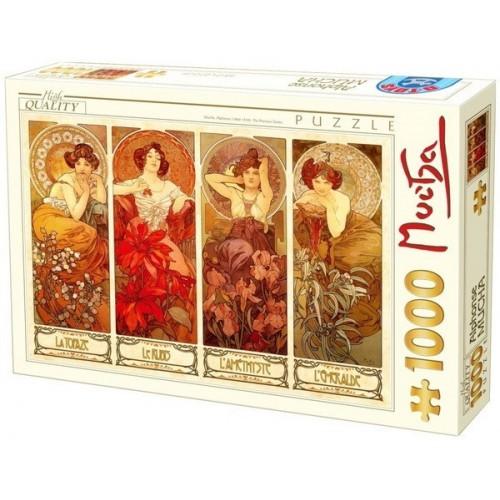 The Precious Stones - Alfons Mucha, D-Toys puzzle 1000 pc
