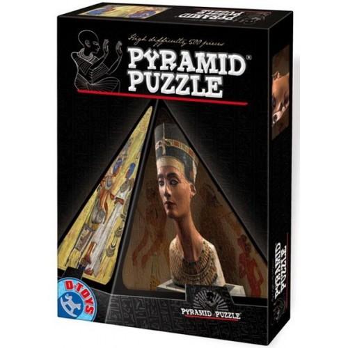 Egyiptom - Nofretete, 500 darabos D-Toys 3D piramis puzzle