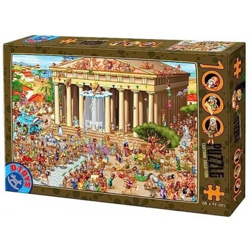Akropolisz - Athén, D-Toys puzzle 1000 db