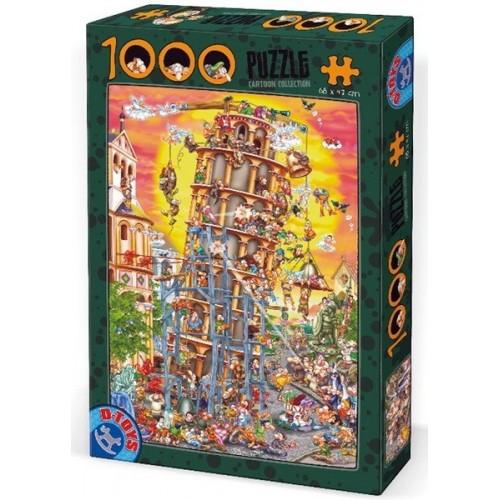Pisai Ferde Torony, D-Toys puzzle 1000 db