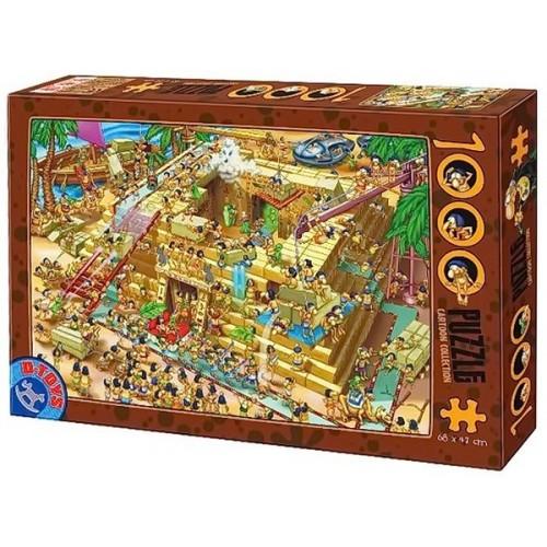 Piramis építés Egyiptomban, D-Toys puzzle 1000 db