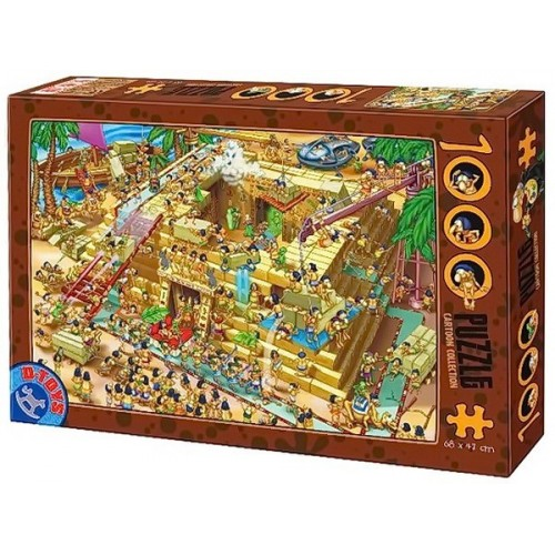 Pyramid building in Egypt, D-Toys puzzle 1000 pc