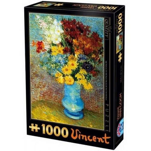 Virágok kék vázában - Van Gogh, D-Toys puzzle 1000 db