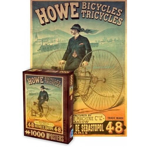 Vintage Posters - Howe Bicycles, D-Toys puzzle 1000 pc