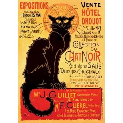 Vintage Posters - Chat Noir, D-Toys puzzle 1000 pc
