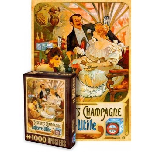 Régi plakátok - Biscuits Champagne, D-Toys puzzle 1000 db