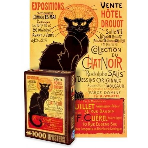 Régi plakátok - Chat Noir, D-Toys puzzle 1000 db