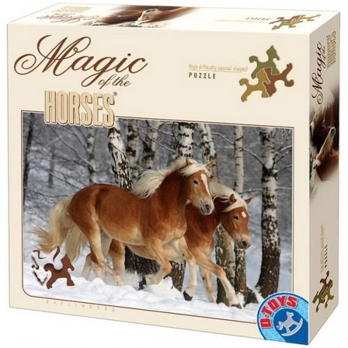 Haflingers-3, Special shaped D-Toys puzzle 239 pc