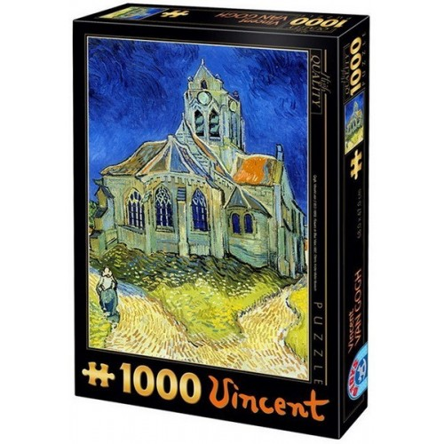 The Church at Auvers - Van Gogh, D-Toys puzzle 1000 pc