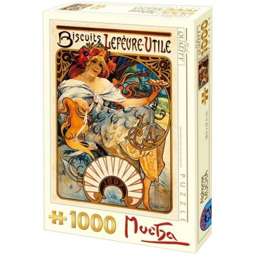 Biscuits Lefevre-Utile - Alfons Mucha, D-Toys puzzle 1000 db