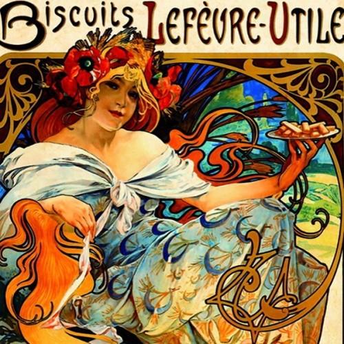Biscuits Lefevre-Utile - Alfons Mucha, D-Toys puzzle 1000 pc