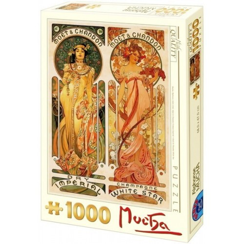 Moët & Chandon - Alfons Mucha, 1000 darabos D-Toys puzzle