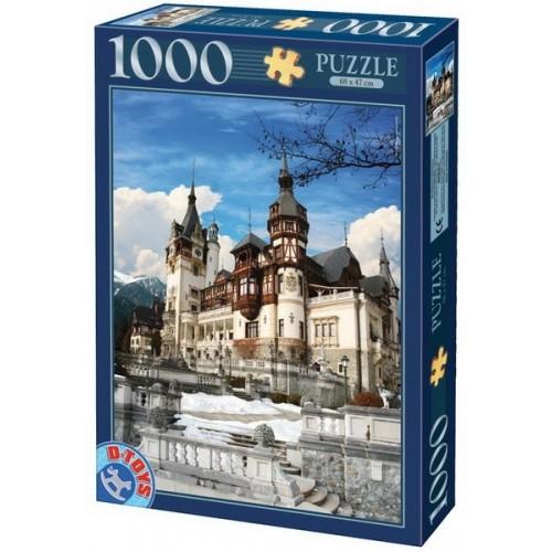 Peles Kastély télen- Románia, D-Toys puzzle 1000 db