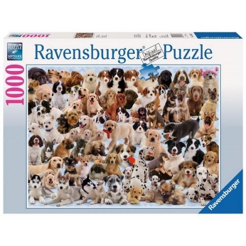 Kutya kollázs, Ravensburger Puzzle, 1000 darabos kirakó