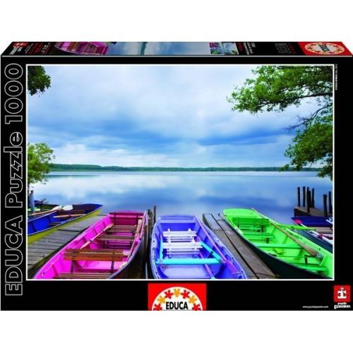 Színes csónakok, Educa Puzzle 1000 darabos képkirakó